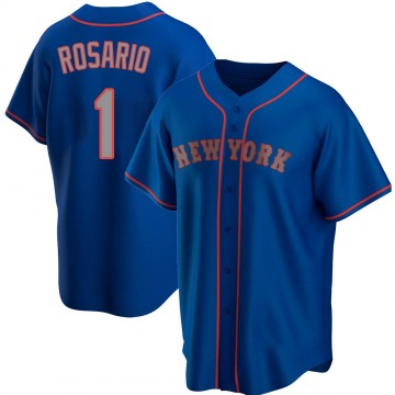 Replica Amed Rosario Youth New York Mets Royal Alternate Road Jersey